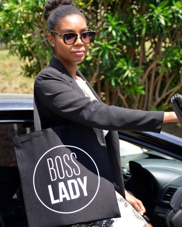 Black & White 'Boss Lady' Bag