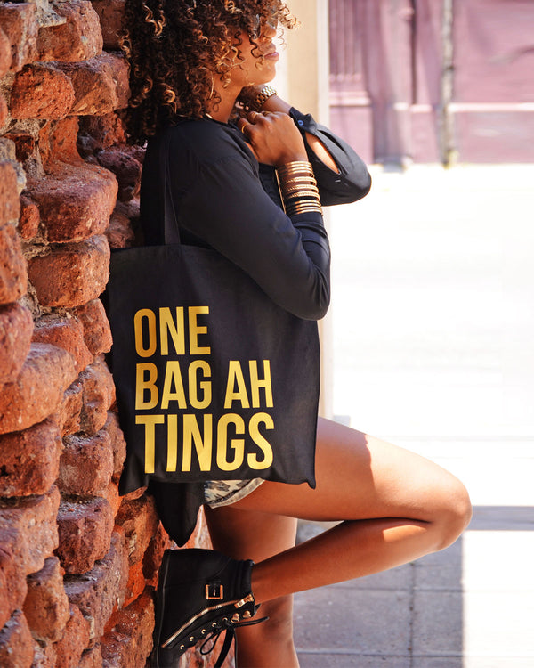 Black & Solid Gold 'One Bag Ah Tings'