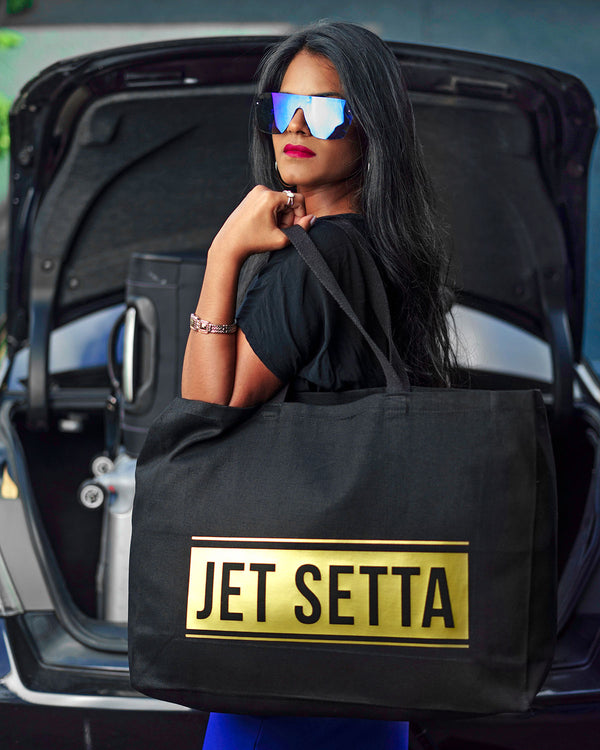 Jet Setta Travel Tote Bag - Black/Gold
