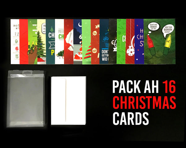 Pack Ah 16 Jamaican Christmas Greeting Cards