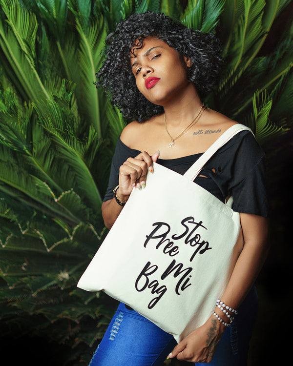Stop Pree Mi Bag - Natural/Black - Tote Bag