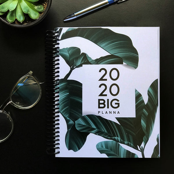 2020 Big Planna - Tropical Leaves (Jamaican 1 Year Planner)
