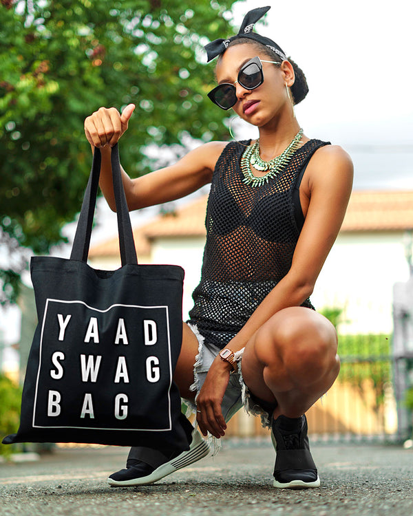 Yaad Swag Tote Bag - Black/White