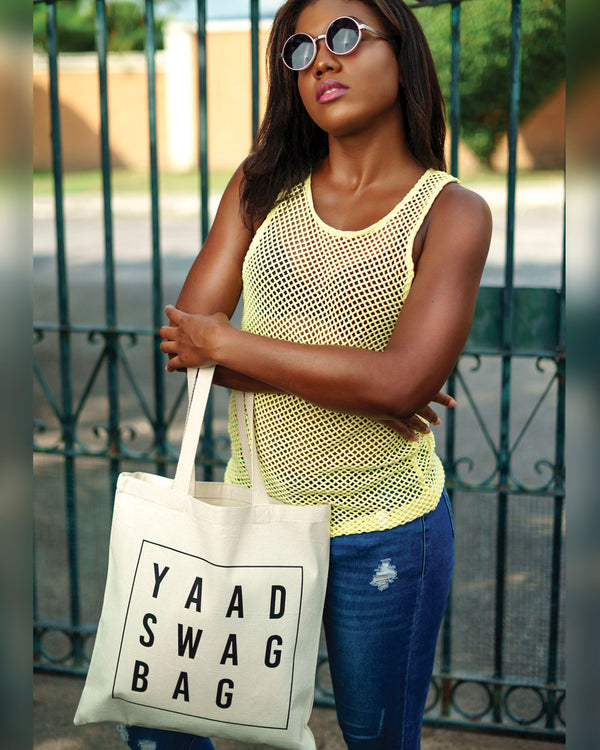 Yaad Swag Tote Bag - Natural/Black