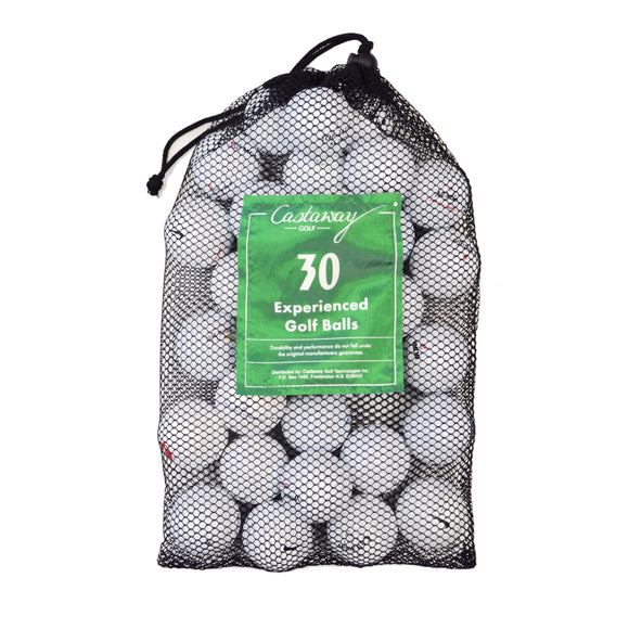 Castaway Golf bag of 30 Experienced Balls