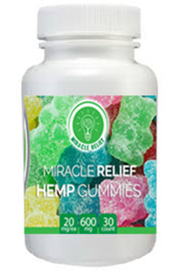 Miracle Relief Organic Hemp Infused Gummy Bears - 30 count - 600mg For You - Miracle Relief Club