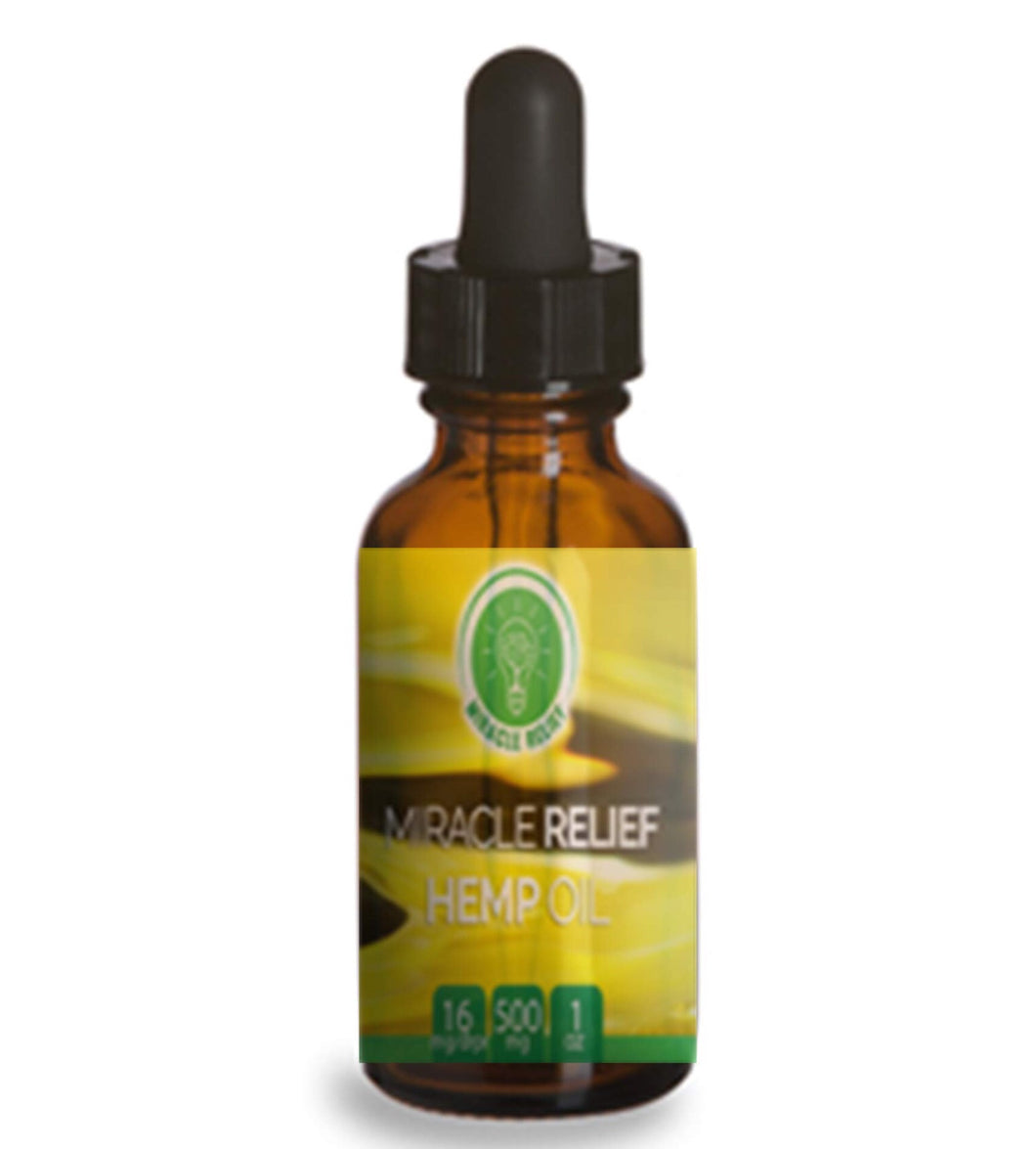 Miracle Relief Hemp Oil Tincture - 1 ounce - 250mg Tincture - Miracle Relief Club