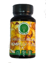 Miracle Relief Hemp Oil Sugar Free Soft Gels - 750mg - 25mg/softgel - 30 softgels Edibles - Miracle Relief Club