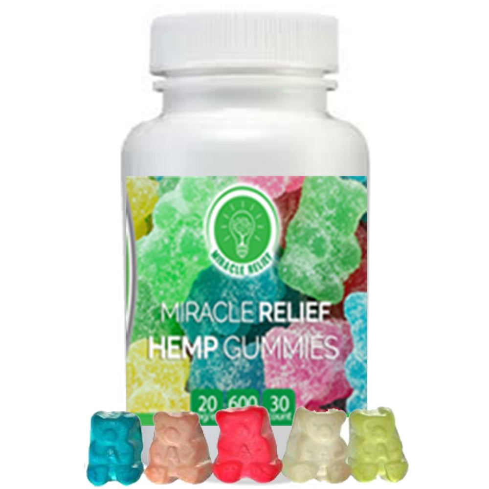Miracle Relief Organic CBD Hemp Infused Gummy Bears - 30 count - 600mg For You - Miracle Relief Club