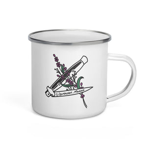Lavender Menace Enamel Mug