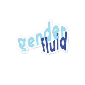 Genderfluid Die Cut Sticker