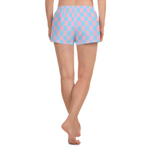 Pink and Blue Checkered Short Shorts