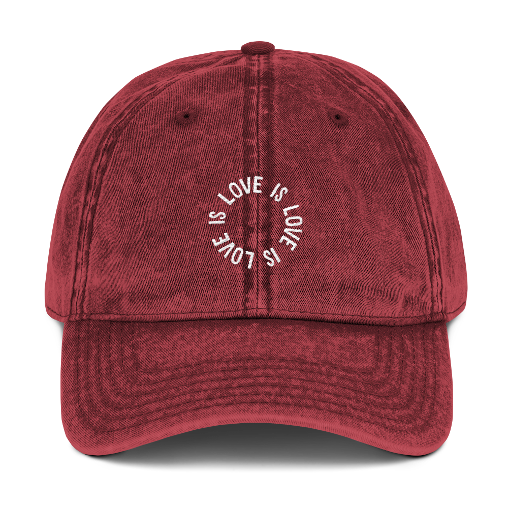 Love Is Love Vintage Twill Cap
