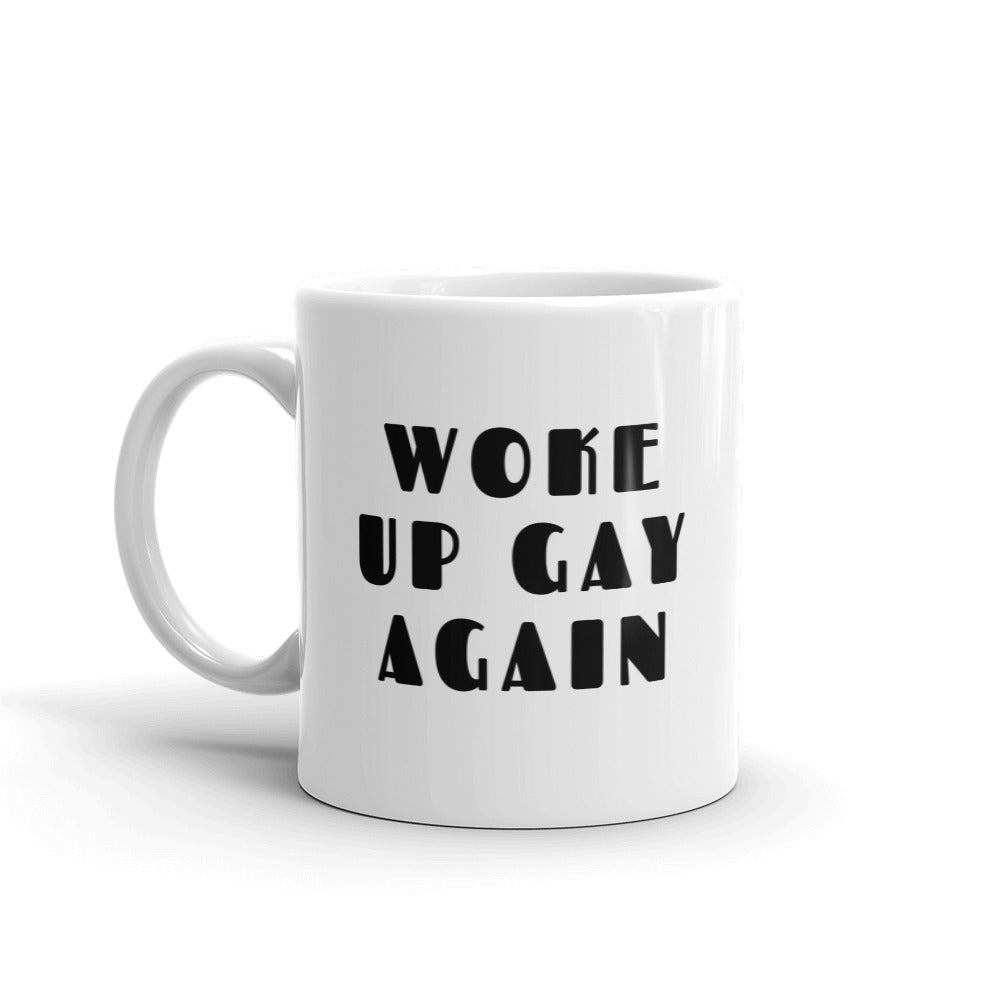 Woke Up Gay Again Mug - White - mug - shoppassionfruit
