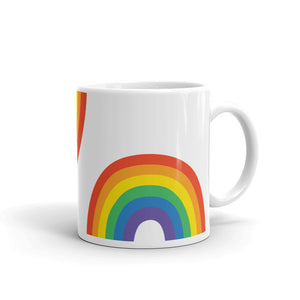 Rainbows Mug – White - mug - shoppassionfruit