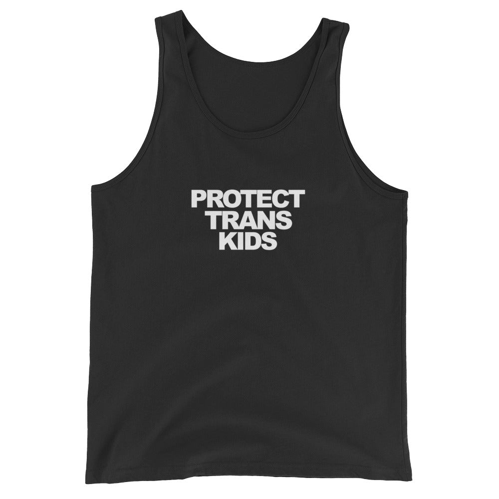 Protect Trans Kids Tank Top – Black - tank - shoppassionfruit