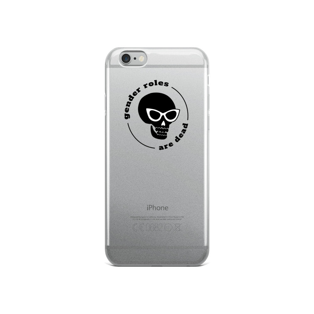 Gender Roles Are Dead Skull iPhone Case - iphone case - shoppassionfruit