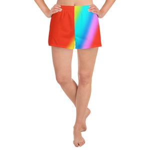 Rainbow Halftone Athletic Short Shorts