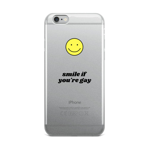 Smile If You're Gay iPhone Case - iphone case - shoppassionfruit