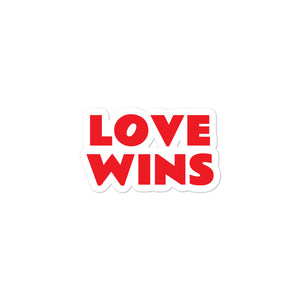Love Wins Die Cut Sticker