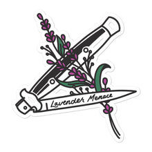 Lavender Menace Die Cut Sticker