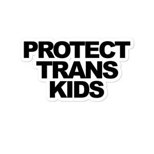 Protect Trans Kids Die Cut Sticker