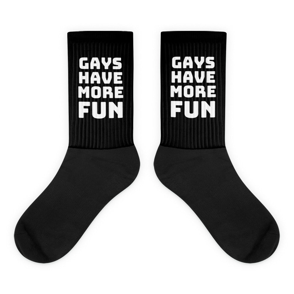 Gays Have More Fun Socks - socks - shoppassionfruit