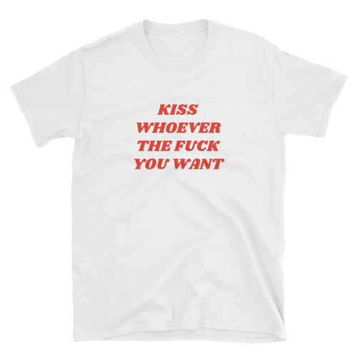 Kiss Whoever Shirt – White - shirt - shoppassionfruit