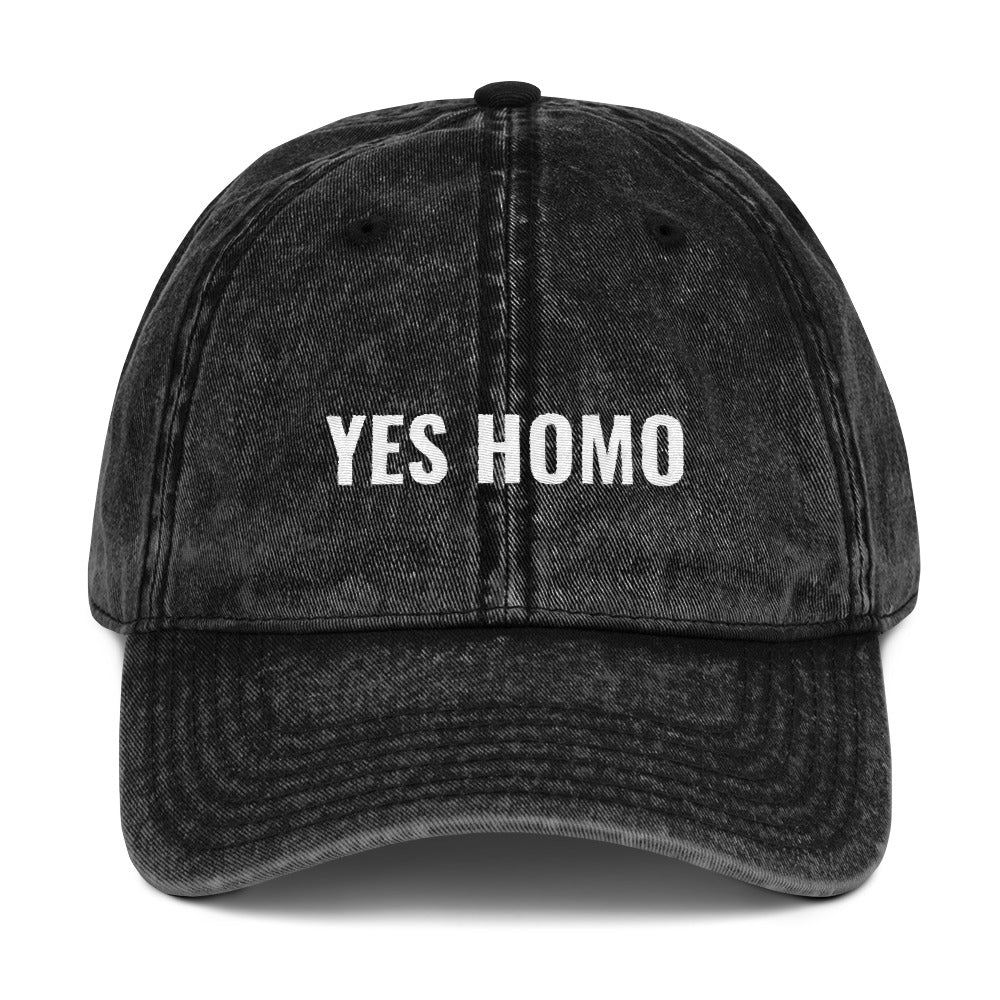 Yes Homo Vintage Twill Hat