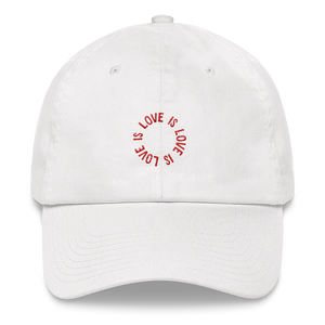 Love Is Love Hat – White