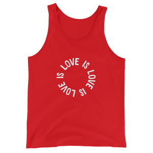Love Is Love Is Love Tank Top – Red - tank - shoppassionfruit