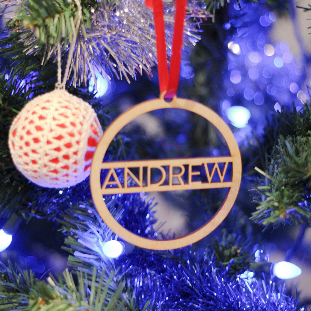 Custom Laser Cut Ornaments - Block Letters
