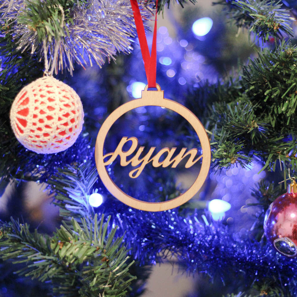 Custom Laser Cut Ornaments - Cursive Letters