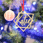 Custom Laser Cut Ornaments - Geometric Design