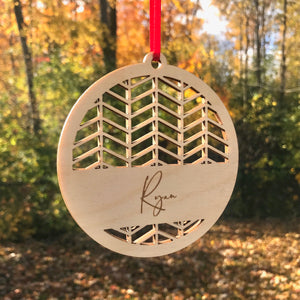 Herringbone Ornament