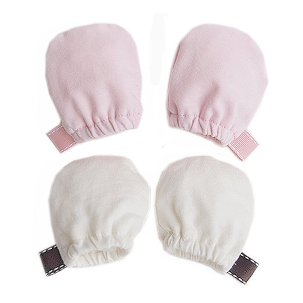 Organic Cotton Baby Scratch Mittens Spocket App