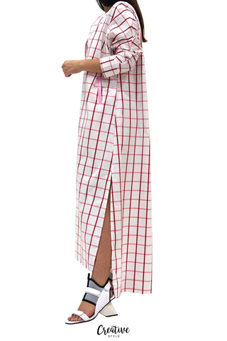 HAPPINESS Embellished Checker Kaftan CSSSF01-21078
