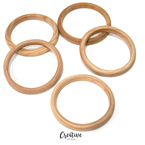 Raw Wooden 5 Bangle مستلزمات