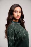 توب صوف Knit Sweatshirt With Rhinestones CSAWF07-20021