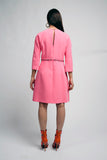 Baby Pink shift Dress فستان