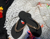 Slippers With Golden Chain حذاء