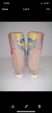 Mid-Calf Boots With Cross-Stitch