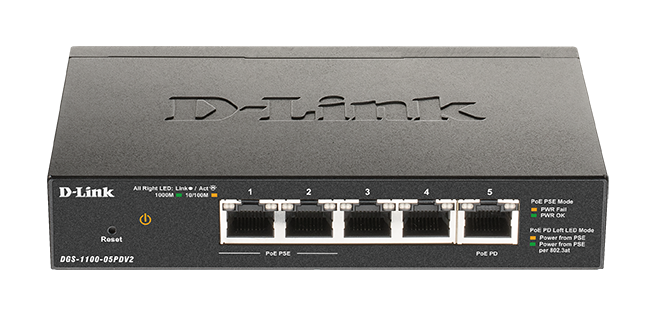 D-Link DGS-1100-05PDV2 5 Port Manageable Ethernet Switch
