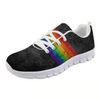 Pride Rainbow Print Comfortable Mesh Sneakers Rainbow / 35 - Equally Younique LGBTQ Shop