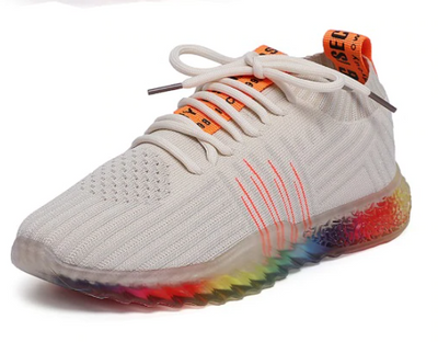 Rainbow Sole Breathable Mesh Walking Shoes BEIGE / 43 / United States - Equally Younique LGBTQ Shop