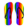 Rainbow Flip Flops Black Strap / S - Equally Younique LGBTQ Shop