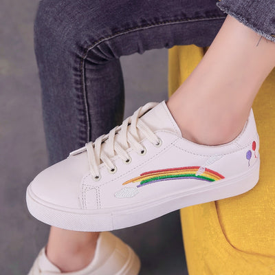 All White Magic Patch Rainbow Shoes Beige / 38 - Equally Younique LGBTQ Shop