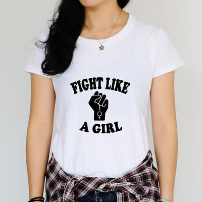 """Fight Like A Girl"" Feminist T-Shirt  - Equally Younique LGBTQ Shop"