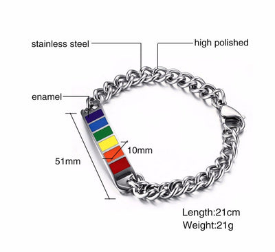 Rainbow Chain Link Bracelet  - Equally Younique LGBTQ Shop