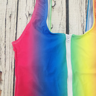 Rainbow Zipper One Piece Swimsuit  - Equally Younique LGBTQ Shop